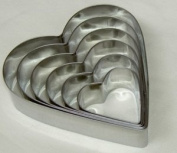 WINDSOR STAINLESS STEEL LARGE HEART CUTTER SET OF 6