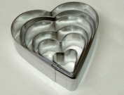 WINDSOR STAINLESS STEEL SMALL HEART CUTTER SET OF 6