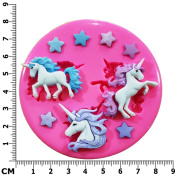 Magical Unicorns and Stars Silicone Mould Mould for Cake Decorating Cake Cupcake Toppers Icing Sugarcraft Tool by Fairie Blessings