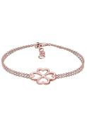 Elli Women Rose Gold Plated 925 Sterling Silver Clover Leaf Bracelet
