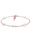 Elli Women Cross Heart Infinity Anchor Star 925 Silver Rose Gold Plated Bracelet