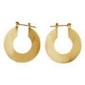 Front Row Gold Colour Flat Round Earrings