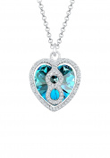 Elli Women Heart Infinity 925 Silver Necklace of Length 45cm 0111963016_45