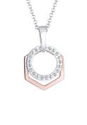 Elli Women Circle 925 Silver Necklace of Length 70cm