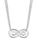 Elli Women 925 Sterling Silver Infinity Love Necklace of Length 45cm