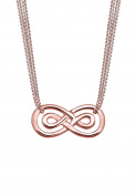 Elli Women Rose Gold-Plated 925 Sterling Silver Infinity Love Necklace of Length 45cm
