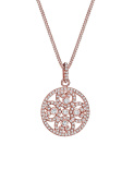 Elli PREMIUM Women Necklace Ornament heart Crystals 925 Silver rose Gold Plated Necklace of Length 45cm