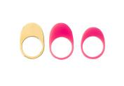 may mOma Women's Fan Rings Fuchsia Metal a Set of Rings - Size N