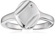 D for Diamond Signet Adjustable Ring