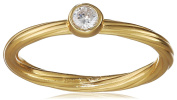 Nomination Women's Ring Bella Mis. 17 925 silver partially gold-plated Zirconia White Size