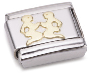 Nomination Composable Classic Star Sign Gemini Stainless Steel and 18K Gold
