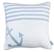 Pillow Happy Style ON THE HIGH SEAS 7 Blue-Light/off-white 40x40cm