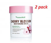 Naturewell Cherry Blossom Moisturising Cream Dye Free, with Natural Oil 470ml 2-pack