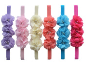 Qandsweet Baby Headbands Toddler Hairbands with Flower