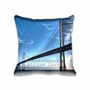 Square 50cm x 50cm Zippered Long Bridge HDR Pillowcases Digital Print Adults Kids Cushion Covers