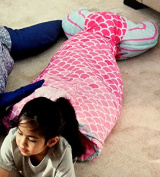 Mermaid Snuggle Tail by Authentic Kids| 100% Easy Care Polyester | Vibrant Pinks and Aqua
