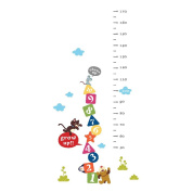 Winhappyhome Kids Height Measurement Growth Chart Wall Art Stickers for Bedroom Living Room Coffee Shop Background Removable Decor Decals