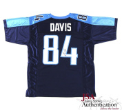 Corey Davis Autographed/Signed Tennessee Titans Navy Blue Custom Jersey