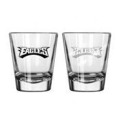 Philadelphia Eagles Shot Glass - 2 Pack Satin Etch