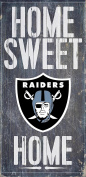 Oakland Raiders Official NFL 37cm x 24cm Wood Sign Home Sweet Home by Fan Creations 048517