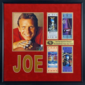 SF 49ers Joe Montana Autographed 4x Super Bowl Champion Display with Replica Tickets Framed