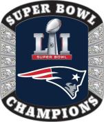 New England Patriots Super Bowl LI (51) Champions Rhinestone Pin
