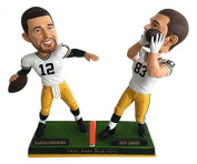 Aaron Rodgers to Jeff Janis Green Bay Packers Hail Mary Bobblehead - National Bobblehead HOF Exclusive - Numbered to 180