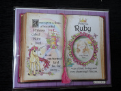 Gift For Ruby Princess Unicorn Mount With Special Verse And Choice Of Photo Frame