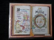 Gift For Millie Princess Unicorn Mount With Special Verse And Choice Of Photo Frame
