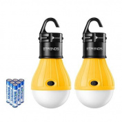 2 Pack LED Camping Lantern Bulb - SUN RUN Tent Lights, Emergency Night Lamp for Outdoor & Indoor Hiking Fishing,Portable,Battery Powered