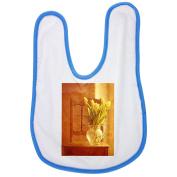 Tulip Bouquet, Tulips, Bouquet, Vase baby bib in blue