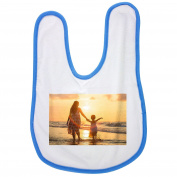 Adult, Asia, Background, Beach, Pretty baby bib in blue