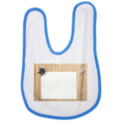 Drawing Pad, Note Pad, White Background baby bib in blue