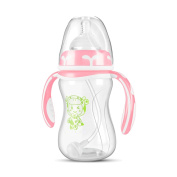 Baby Wide Calibre Pp Material Curved Bottle 8 Ounces,A-240ml