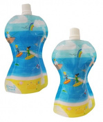 Fill n Squeeze Smooth Snack Pouch - 10 Reusable 150ml Pouches to be used with the Fill n Squeeze Weaning Pouch Filling System