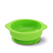 Pueri Baby Toddler Feeding Silicone Bowl Children Stay Put Suction Dining Bowl Drop Resistant Round Bowl