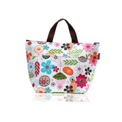 Cheap4uk Outdoor Tote Insulated Picnic Cooler Lunch Bag For Lady-Floral Pattern