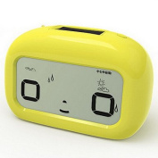 MGS-Clock@Mute Cute LED Multi-functional Alarm Clock , yellow