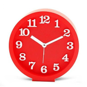 MGS-Clock@Students Cute Alarm Clock Modern Fashion Simple Clock , red