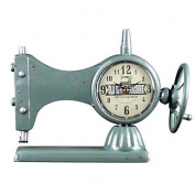 MGS-Clock@European Style Vintage Iron Desk Alarm Clock , blue