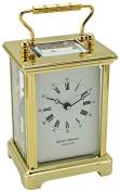 David Peterson Obis Mechanical Carriage Clock with Strike, Brass