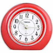 Fashion creative bedroom bedside silent luminous clock, red