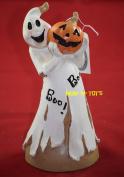 Halloween Boo Ghost With Pumpkin Figurine