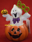 Halloween BOO Ghost in Pumpkin Figurine