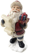 Santa With Lists & Gifts Resin Figurine 12cm