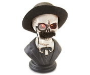 30cm Gentleman Skeleton LED Bust with Red Light Up Eyes and Sound