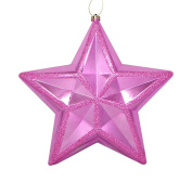 30cm Shiny Bubblegum Pink Commercial Size Shatterproof Star Christmas Ornament