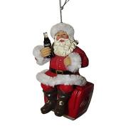 Kurt Adler Coca-Cola Santa with Bottle On Cooler Ornament CC9172