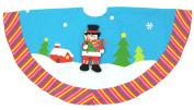 120cm Sky Blue Winter Wonderland Snowman Christmas Tree Skirt