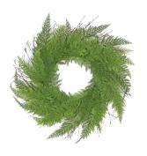 60cm Decorative Green Artificial Narrow Fern Wreath - Unlit